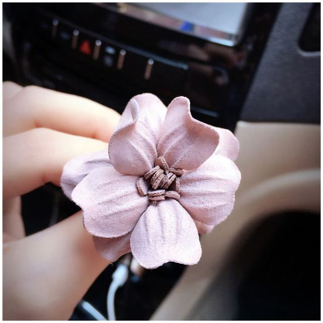 Auto Parts Rose Flower Fragrance Export Folders Aromatherapy Car Decorative  Air Freshener, Pink