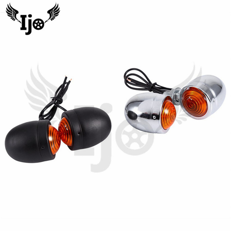 Retro Scooter Indicator Flashers Blinker ATV Part Motorbike Lamp Amber For Honda Suzuki Yamaha Motorcycle Turn Signal Light Moto