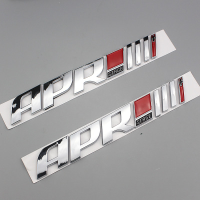 20X 3D ABS plastic Auto Car APR Stage Emblem Tail Side Sticker Badge styling Decals