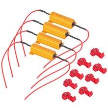 цена на High QUlaity 4pcs 50W 6Ohm Car LED DRL Fog Turn Singal Load Resistor for Fix LED Bulb Fast Hyper Flash Turn Signal Hot Selling