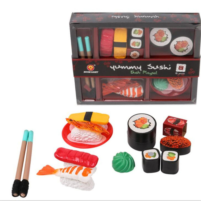 US $12.79 20% OFF|Children\'s Sushi Play House Toy Set Pretend Toy Kitchen  Pretend Toys Dining Lunch Janpa Sushi Food Toys Set Box-in Kitchen Toys  from ...