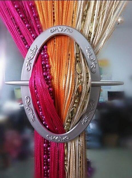 decorative curtain holdbacks set of 2 window curtain tiebacks curtain brooch oval 4 colors free shipping hot