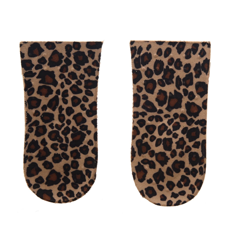 TEXU 4 x Sole Heel Pad PVC Leopard Growing for Women Men + 4.5cm uncanny x men volume 4