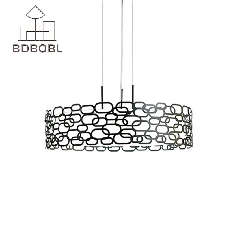 BDBQBL Modern LED Pendant Lamp White indoor round suitable for home light living room bedroom Diningroom Lighting Fixture modern crystal lamp round shape led pendant light for bedroom living room lighting
