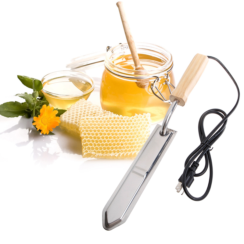 Electric Uncapping Knife Bee Honey Scraper Hot Knife Stainless Steel Extractor