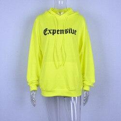 ZADORIN Harajuku Neon Green Hoodies Women Streetwear Long Sleeve Sport Sweatshirt Women Casual Oversized Hoodie jogging femme 6