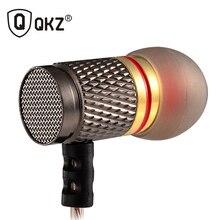Auricular QKZ DM6 Profesional Calidad de Sonido Bajo Pesado En La Oreja Los Auriculares de Metal Música fone de ouvido