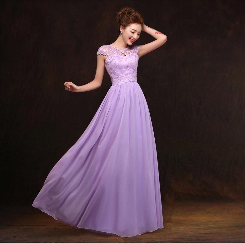 Us 29 99 2015 Spring Summer Nice Light Purple Bridesmaid Dress The Wedding Formal Party Over Long Bandage Dresses Good Cheap Fasta In Bridesmaid