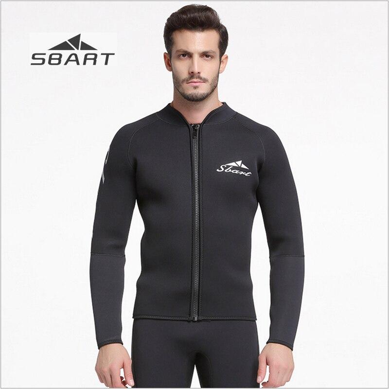 Sbart 2018 5mm combinaison veste noir épaissir hiver natation plongée en apnée surf à manches longues éruption garde sous-marine chasse hauts