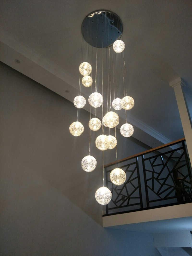 ロングペンダントライトリビングルームのペンダントランプ寝室器具階段照明ロフトイルミネーションロングライトハンギングキッチンランプ