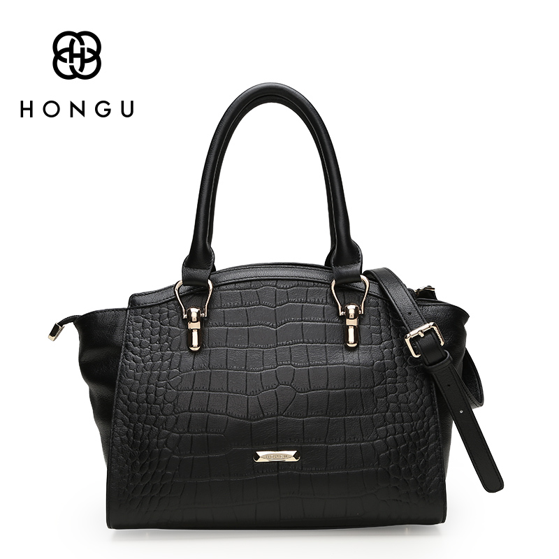 HONGU Famous Designer Women Handbag Crocodile Pattern Envelope Top Handle Bags Ladies
