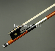 Brazilwood  violin bow ,Pure Silver Parts ,Ebony Wood Frog, best Mongolia horse tail and best elastic,4/4 size, Free shipping цена
