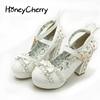 Sweet High Heels Lolita Shoes Japanese Princess Lace Bow Tie Single Women S Heel Waterproof Table