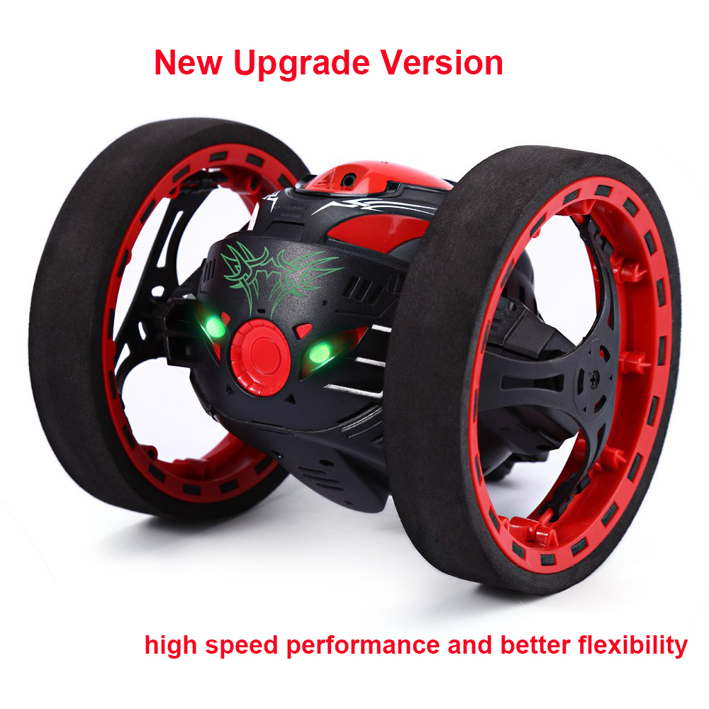 New Upgrade version Jumping Bounce Car SJ88 RC Cars 4CH 2.4GHz Jumping Sumo RC Car W Flexible Wheels Remote Control Robot Car