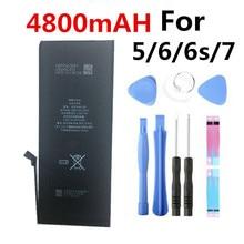 100% nouvelle batterie 4800mAh pour iPhone 6 Plus pour 6plus remplacement pour iPhone 6plus 5.5 outils de batterie + autocollant