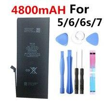 100% nuevo para el iPhone 6 Plus de batería de 4800mAh para 6 Plus para el iPhone 6 Plus de repuesto 5,5 herramientas de batería + pegatina