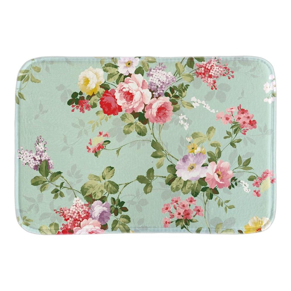 Vintage Floral Roses Doormat font b Indoor b font Outdoor Floor Mat Collection For Living Room