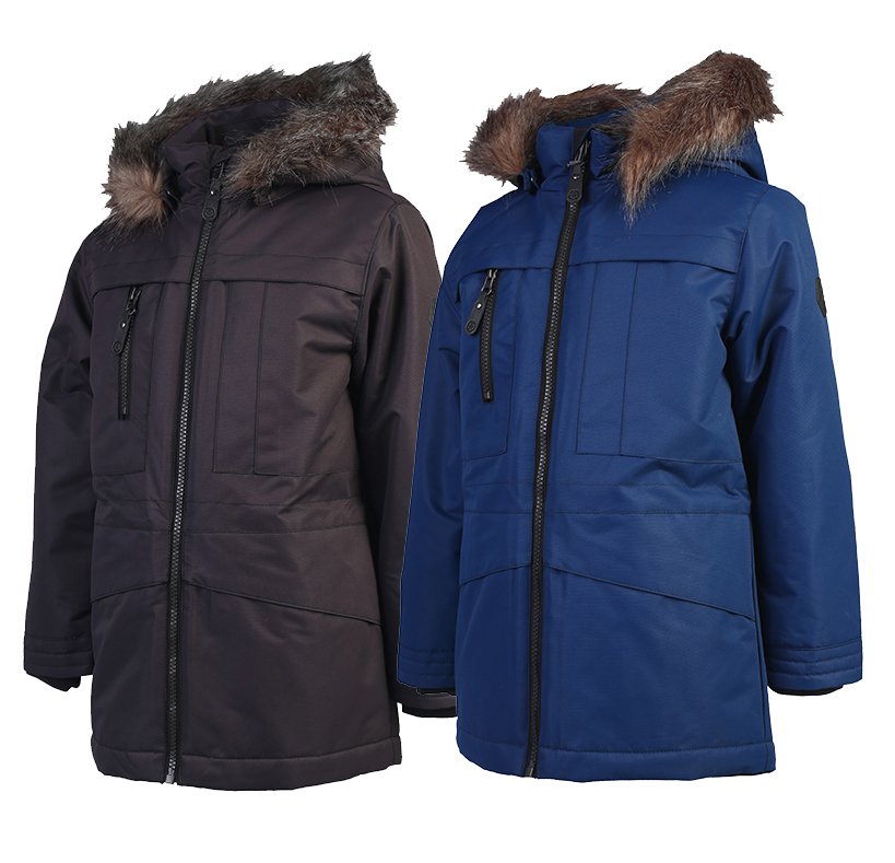 Classic Nordic Boy Warm Winter Medium Length Thick Coat 30 Degrees Below Zero Extremely Cold Coat Outdoor Wear