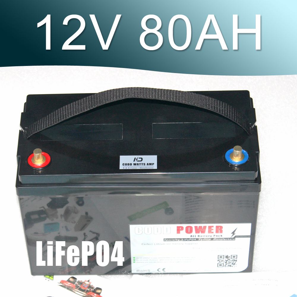LiFePO4 Battery 100AH Solar energy Golf Car UPS 14.6V 80AH Deep cyclic discharge 12v lithium ion battery 100ah for solar energy high quality 12v 100ah lifepo4 battery for electric bicycle ev golf car