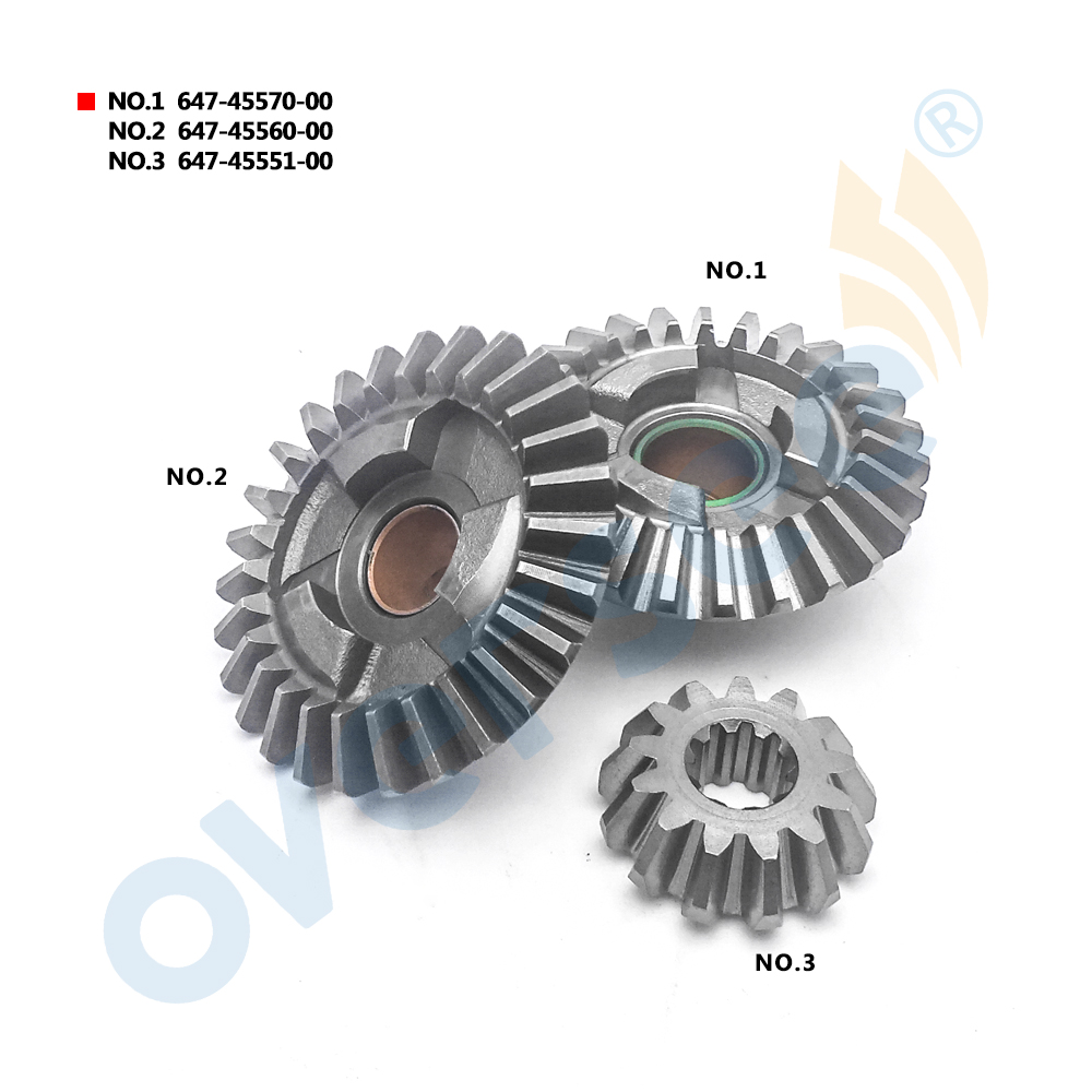 OUTBOARD GEAR Kit 647-45570 647-45560 647-45551 For Yamaha Outboard Motor 6HP 8HP 3pcs Kit