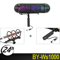 BOYA BY-WS1000 Windshield and Suspension System with XLR Male and Female Inputs & 3 Shockmount   for Canon Nikon Sony microphone