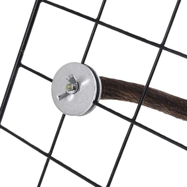 1PC Natural Wooden Bird Perch U Shape Stand Pet Parrot Foot Grinding Bird Cage Accessories S/L 4