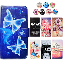 Fashion PU Leather Flip Print Wallet Case For FinePower C1 Case Cover Book Case 5 0