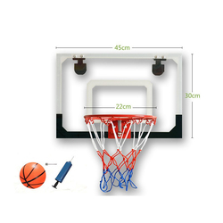 Transparent wall hanging basketball board leisure rebound children's basketball rack easy to hang small basket