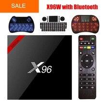 Новые x96 x96w Умные телевизоры Box Android 7.1 Bluetooth 4.0 Amlogic s905w 1 г/8 г 2 г/16 г 2.4 ГГц Wi-Fi HD 4 ядра 4 К media player