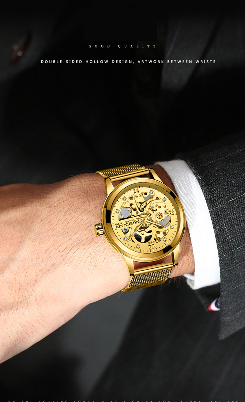 Skeleton Watch 2019 New FNGEEN Sport Mechanical Watch Luxury Watch Mens Watches Top Brand Montre Homme Clock Men Automatic Watch