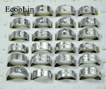Mixed lots 5fashion mens stainless steel rings jewelry