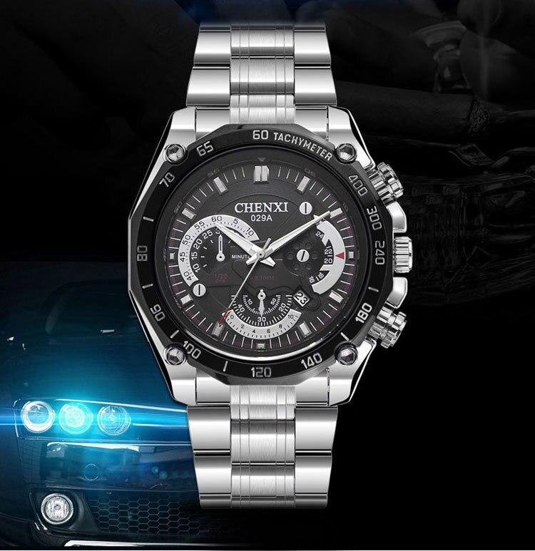 CHENXI Brand Men's Watch Stainless Steel Unique Speed Meter Plate Quartz Man Casual Wristwatch Fashion Handsome Tough guy Clock феникс учебное пособие знаю окружающий мир на 5