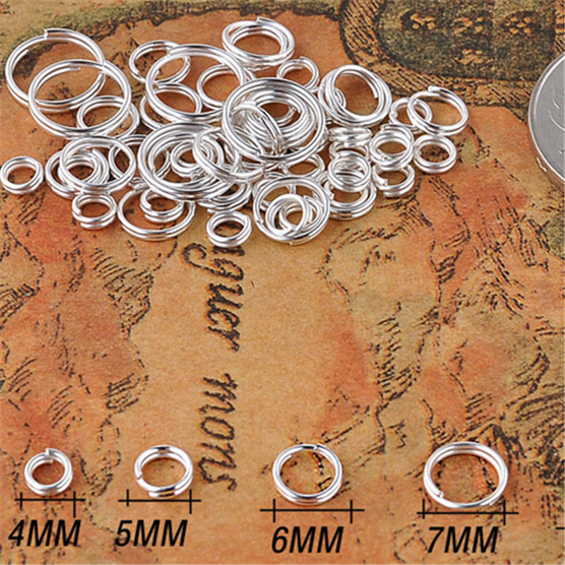 LINSOIR 200pcs/lot 4/5/6/7/8/10/12mm Open Jump Rings Double Loops Gold/Silver Color Split Rings for Jewelry Making Accessories