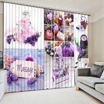 uxury Blackout 3D Curtains For Living room Bedding room Office purple curtains