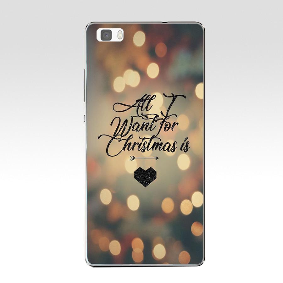 145AZ Christmas Friend Gift Cute Lovely Hard Transparent Cover For Huawei P8 P8 P9 P10 Lite Y5 Ii Honor 4C 5C 7 8 &Amp; Nova