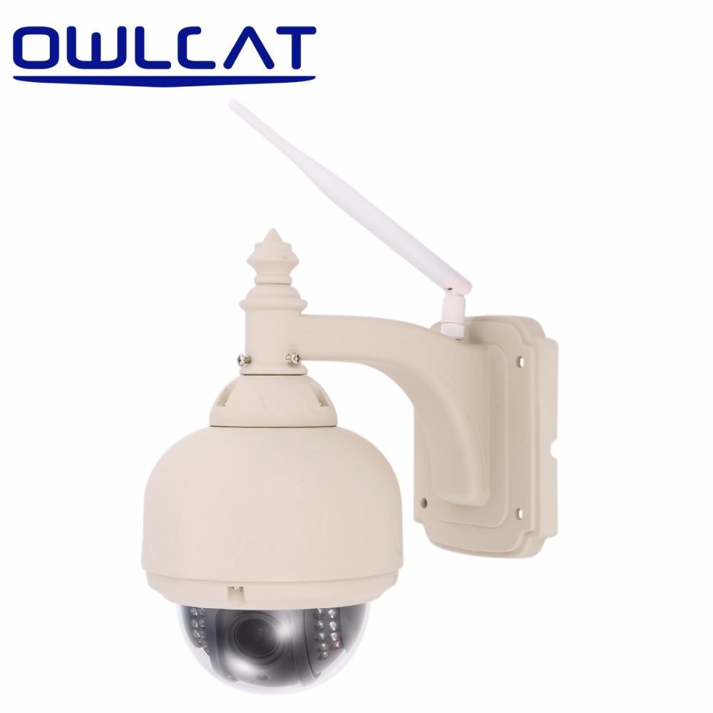 OwlCat SD17W 1080P Full HD Wireless IP Camera CCTV 4X PTZ WiFi Home Surveillance Security Camera ...