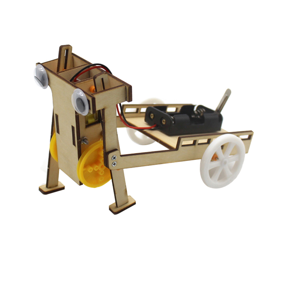 145*100*112 Mm DIY Electric Assemble Walking Robot 2WD Trolley Car Kit Education Science Experiments Toys Invention Kids