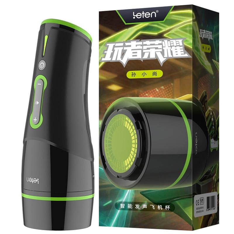 все цены на Leten Automatic Male Masturbator Machine for Men Vocalization and Vibration Masturbation Cup Sex Vagina Pocket Toys Sex Products