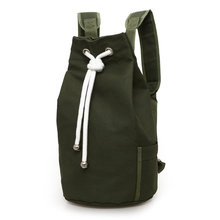 Купить с кэшбэком 2017 New Outdoor Sport Basketball Bag Canvas Large Capacity Bucket Bag Football Balls Pack Black Mens Backpack J761420