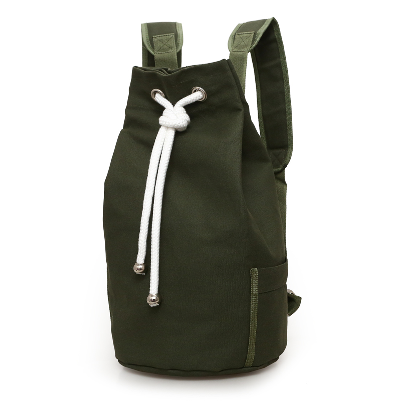 2017 New Outdoor Sport Basketball Bag Canvas Large Capacity Bucket Bag Football Balls Pack Black Mens Backpack J761420