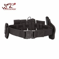 7 In 1High Quality Police Utility Heavy Duty Army Combat Waist Belt W Pouches Bag 1000D