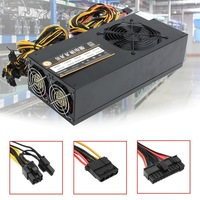 2800W Mining Power Supply 8GPU 24Pin For Eth Rig Ethereum Bitcoin Miner 90 Gold High Quality