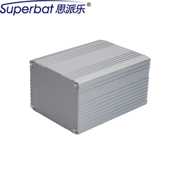"Superbat 2.17""*2.95""*3.94"" Heavy Guage Extruded Aluminum Box Enclosure Case Electronic PCB Amplifier Instrument DIY 55*75*100mm"