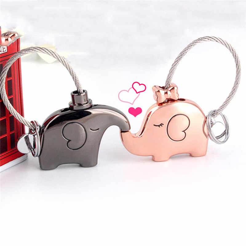 Слон для влюбленных Подарочная сумка Подвеска кольцо для ключей для пары брелки для ключей ключи от машины брелок для ключей инновационные элементы
