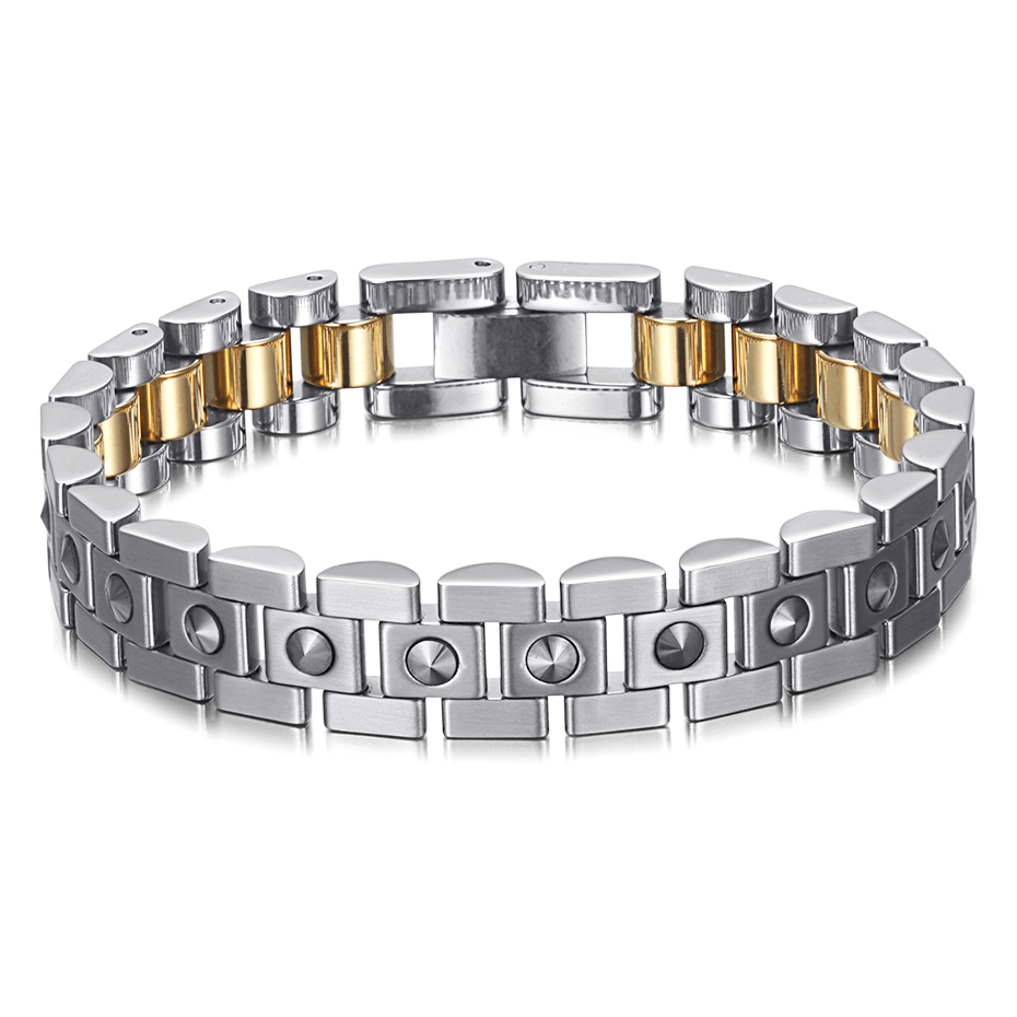 Image 5 - RainSo 99.999% Pure Germanium Bracelet for Women Korea Popular Stainless Steel Health Magnetic Germanium Energy Power Jewelry-in Charm Bracelets from Jewelry & Accessories