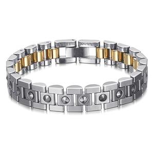 Image 5 - RainSo 99.999% Pure Germanium Bracelet for Women Korea Popular Stainless Steel Health Magnetic Germanium Energy Power Jewelry