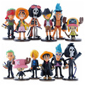 Hot sale Cute Mini One Piece  PVC Action Figure  PVC brinquedos Collection Figures toys Free Shipping