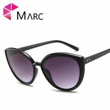 MARC cat eye sunglasses Mirror Blue Leopard Plastic Oculo personality rice nail Fashion glasses hot Trend