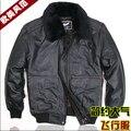 Мужчины первый слой утолщаются воловья кожа полета кожа одежда воздушный ввс полета марка кожа куртка / S-XXL