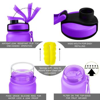 ZORRI Gym Bottle Protein Shaker Sports Waterbottle Outdoor Bicycle Cross-country Tour Adult/Kids Water Bottle botellas para agua 3